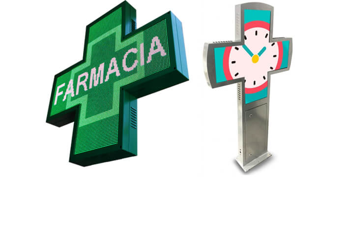 Cruz de farmacia full color